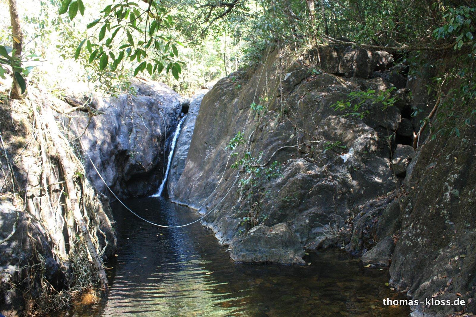 Das Ziel unser Wanderung: Der Wasserfall :-)
